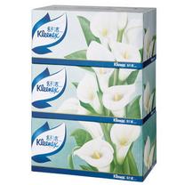 金佰利 Kimberly-Clark 舒洁盒装面纸 2312 200抽/盒 3盒/提 10提/箱 (马蹄莲)