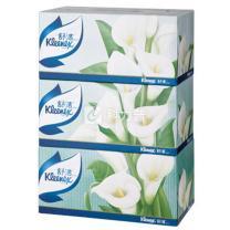 金佰利 Kimberly-Clark 舒洁盒装面纸 2312 双层 200抽/盒  3盒/提 10提/箱 (马蹄莲)