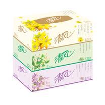 清风 Breeze 花语心室盒装面巾纸双层 B333B 130抽/盒 3盒/提 16提/箱