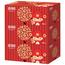 五月花 may flower 盒装面巾纸双层 A19613S 200抽/盒 3盒/提 12提/箱 (喜庆版)