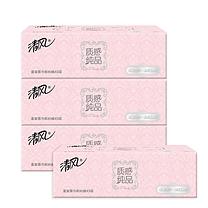 清风 Breeze 超质感盒装面巾纸三层 B332XN/B332XN1  90抽/盒 3盒/提 12提/箱