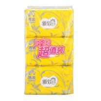 洁云 Hygienix 雅致生活塑包面巾纸 164039 200抽/包 3包/提 20提/箱
