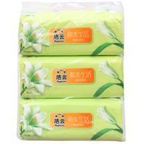洁云 Hygienix 和美生活塑包面巾纸 162417/162418 200抽/包 3包/提 16提/箱