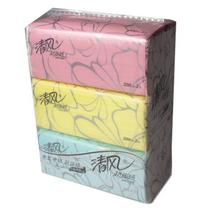 清风 Breeze 超质感袋装抽取式面纸 BR38XXN 200抽/包 3包/提 16提/箱