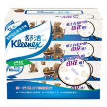 金佰利 Kimberly-Clark 舒洁可可小熊家族袋装面巾纸双层 2103  120抽/包 4包/提 24提/箱