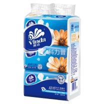 维达 vinda 超韧袋装抽取式面巾纸三层 V2219 150抽/包  3包/提 16提/箱