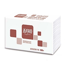 五月花 may flower 擦手纸单层三折 A181600 双层三折 200抽/包 20包/箱