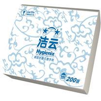 洁云 Hygienix 折叠式擦手纸单层三折 156110  200抽/包 20包/箱