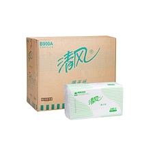 清风 Breeze 折叠式擦手纸单层二折 B900A 240抽/包 20包/箱