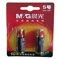 晨光 M&G 碱性电池 ARC92554 5号  2节/卡 吸卡