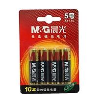 晨光 M&G 碱性电池 ARC92556 5号  4节/卡 吸卡