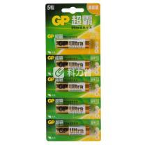 超霸 GP 碱性电池 GP15A-L5i LR6 AA 5号  5节/卡