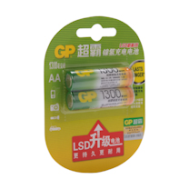 超霸 GP 充电电池 5号  2节/卡 (1300毫安时)