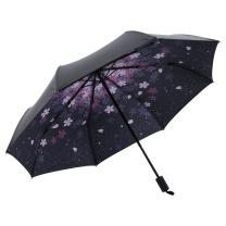 美度 樱花三折创意女生晴雨伞 M3335 8骨 55*8K (颜色随机)