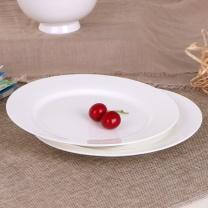 敏杨 平盘(牛排盘) 骨质白瓷 8英寸 (骨瓷) 4个/套 口径:20.3cm*高2cm