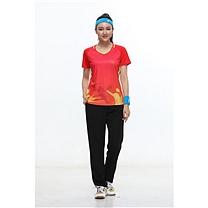 励扬 女装运动服 M号 RY-383136 M 100%聚酯纤维 (中国红/荧光黄/宝石蓝)