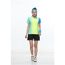 励扬 女装运动服 M号 RY-383140 M 95%聚酯纤维,5%氨纶 (雪花白/荧光黄/鲜艳蓝/)