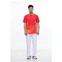 励扬 男装运动服 M号 RY-383141 M 95%聚酯纤维,5%氨纶 (中国红/炫酷黑/鲜艳蓝)