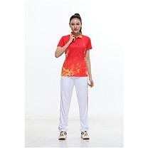 励扬 女装运动服 M号 RY-383142 M 95%聚酯纤维,5%氨纶 (中国红/炫酷黑/鲜艳蓝)