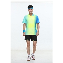 励扬 男装运动服 XL号 RY-383139 XL 95%聚酯纤维,5%氨纶 (雪花白/荧光黄/鲜艳蓝/)