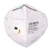 3M 耳戴式防尘口罩 9001V (独立包装)