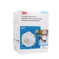 3M 呼吸阀颗粒物防尘口罩 N95 8511 10只/包