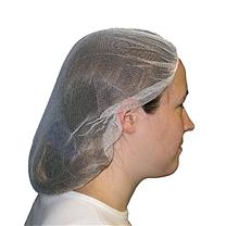 爱马斯 AMMEX 一次性无纺布条形帽 40048W-19BL 19寸 (蓝色) 100个/袋