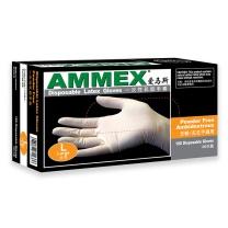 爱马斯 AMMEX 一次性乳胶无粉手套 TLFC46100 L  100只/盒