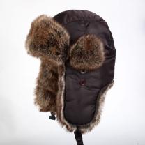 国产 护耳防寒帽 均码 (棕色)
