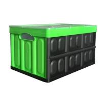 连和 周转箱 LH-533630C 530*360*300mm (绿) (有盖)