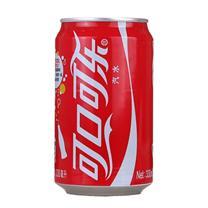 可口可乐 Coca'Cola 碳酸饮料 330ml/罐  24罐/箱 (大包装)