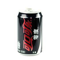 可口可乐 Coca'Cola 零度 330ml/罐  24罐/箱 (大包装)