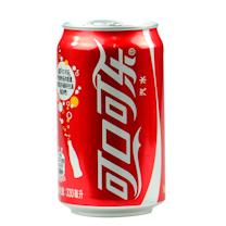 可口可乐 Coca'Cola 碳酸饮料 330ml/罐 24罐/箱