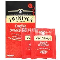 川宁 TWININGS 英国早餐茶 S25 2g/包  25包/盒 12盒/箱 12盒/箱