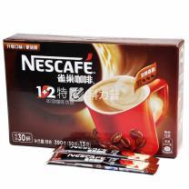 雀巢 Nestle 1+2速溶咖啡 13g/条  30条/盒 18盒/箱 (特浓18盒/箱)