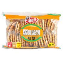 米老头 蛋黄煎饼饼干 300g/袋  (牛奶味/原味 10袋/箱)