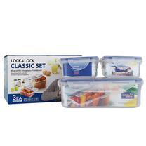 乐扣乐扣 LOCK&LOCK 塑料保鲜盒三件套 HPL817S001 HPL805:350ml*2,HPL817:1L*1