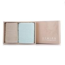 内野 UCHINO 素色静雅 2面巾礼盒 JD22672-N 面巾:34*75cm*2 (MOQ:36)