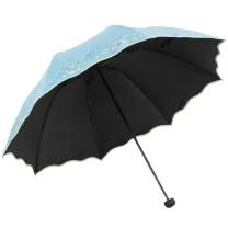 天堂伞 PARADISE 全遮光丝光绒彩胶三折晴雨伞 33190E (200起订)