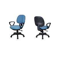 东港 职员椅布椅 B105 W570*D550*H900-1000mm (蓝色) 江浙沪含运,其他地区运费另询.