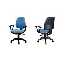 东港 中背职员布椅 B106 W570*D550*H920-1000mm (蓝色) 江浙沪含运,其他地区运费另询.