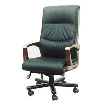 顺华 大班椅半牛皮牛皮椅 SH-862A W665*D500*H1170-127mm (黑色)