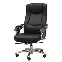顺华 大班椅半牛皮皮椅 SH-6002A W650*D650*H1020-1120mm (黑色)