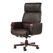 顺华 大班椅半牛皮皮椅 SH-1225A W650*D650*H1020-1120mm (黑色)