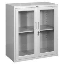 集大 JIDA 玻璃开门柜 CA-BK-9 H920*W800*D400mm (灰白色)