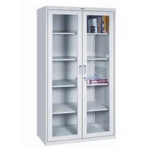 集大 JIDA 玻璃开门柜 CAB-BK1-18 H1840*W900*D400mm (灰白色)
