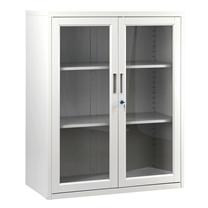 集大 JIDA 玻璃开门钢柜 CAB-BK-10 H1090*W900*D400mm (灰白)