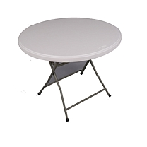折叠圆桌 95(圆桌直径)*74(高) (白色) OD 仅限广州地区可售