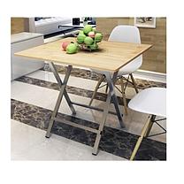 可折叠小餐桌便携式简易吃饭桌手提桌子竹木 80*80*75cm OD 仅限广州地区可售