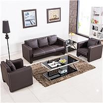 国产定制 办公室用真皮沙发组合(不含安装)
